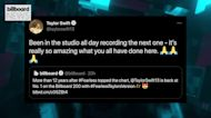Taylor Swift Already Back in the Studio as 'Fearless (Taylor's Version)' Hits No. 1 on Billboard 200 | Billboard News