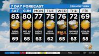 New York Weather: CBS2's 9/18 Saturday Morning Update