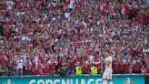 Play halted for Eriksen tribute during Denmark-Belgium game