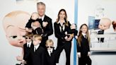 Alec and Hilaria Baldwin dressed their six children in matching 'Boss Baby' outfits for the sequel's movie premiere