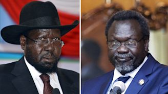 South Sudan president urges rebel chief to join unity government