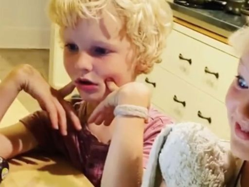 Watch James Van Der Beek's kids react with horror to seeing him in a Kesha video