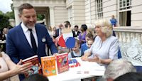 David Walliams amuses Camilla by admitting his son 'prefers other authors' in video chat