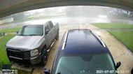 Security Camera Captures Moment Tornado Rips Through Jacksonville Neighborhood