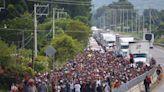Caravana Migrante logra cruzar sin problemas a Huixtla, Chiapas