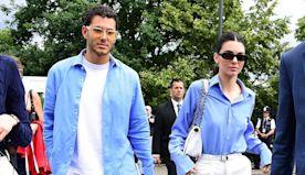 Kendall Jenner & Fai Khadra Go To Wimbledon Final In Cute Matching Outfits After Mykonos Trip