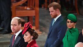 Watch the moment Meghan Markle and Kate Middleton greeted each other at Commonwealth Day service - video