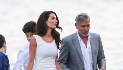 George Clooney and Wife Amal Have Fancy Night Out in Italy With Family: Pic
