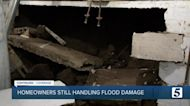 Homeowner deals with collapsed basement after flash flooding