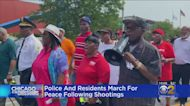 Police And Residents March For Peace Following Shootings