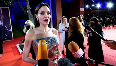 Jolie glitters at Rome Film Fest
