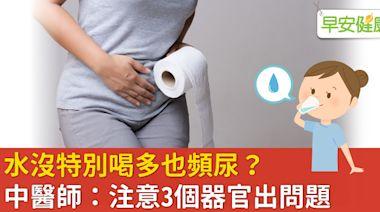 沒特別多喝水,卻一小時內就想小便?中醫講解頻尿從何而來