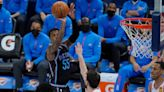 Shorthanded Kings hold off Thunder to win third in a row as play-in race tightens in West