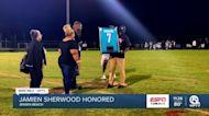 Jensen Beach retires Jamien Sherwood jersey