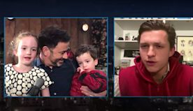 Tom Holland Surprising Jimmy Kimmel's Son On His Birthday As Spider-Man Is Adorable