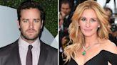 Armie 'drops out of drama Gaslit with Julia Roberts' after revealing 'crush'
