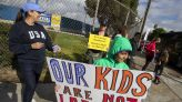 Parents in California protest student COVID-19 vaccine mandate, keep kids home