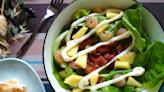 【早午餐】鳳梨培根鮮蝦沙拉