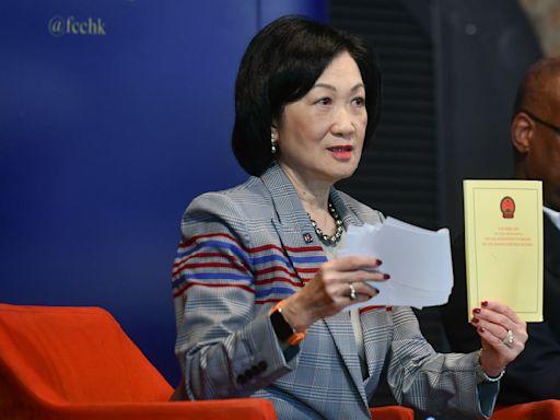 葉劉淑儀:聲稱中央政府違背《中英聯合聲明》的指控是子虛烏有