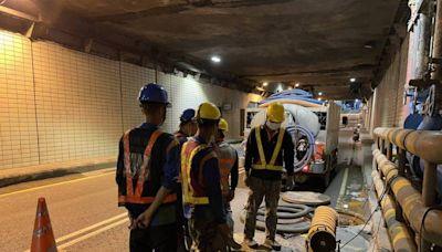 高雄中正地下道設抽水機防淹 9/16封閉西向東外側快車道