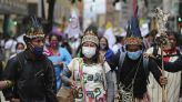 Protesters in Colombia decry government pandemic response