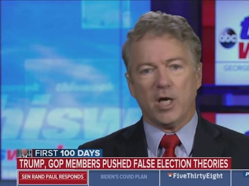 Rand Paul Still Refuses to Admit That the Election Wasn't Stolen