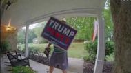Trump Campaign Signs Stolen From Yards in Maryland Neigborhood
