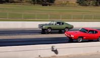 1969 Plymouth Cuda 440 Takes On A Pontiac GTO 455