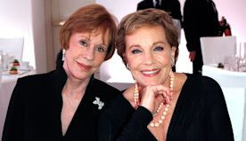 Julie Andrews Recalls Kissing Friend Carol Burnett for a 'Silly' Prank: 'It Was a Great Moment'