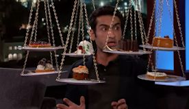 Watch the glorious moment Kumail Nanjiani eats junk for the first time since getting ripped