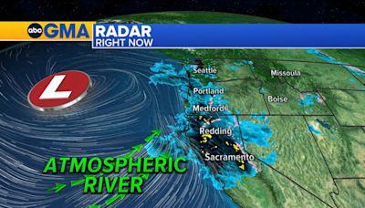 Powerful atmospheric river slamming northern California