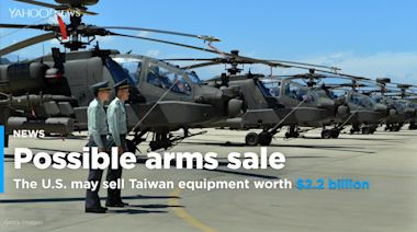 State Department approves possible $2.2 billion arms sale to Taiwan