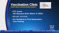 Miami Heat Hold Vaccination Event At FTX Arena