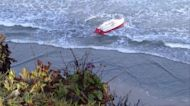 Smuggling boat capsizes on San Diego area beach