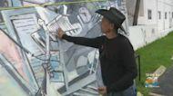 Dallas Artist Creates Mural In Surfside In Tribute To Condo Collapse Victims