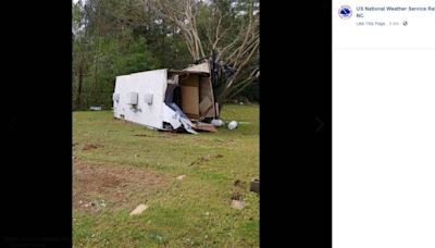 Tornado damage spotted in central NC after storms hit. Photos captured the aftermath