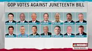 Juneteenth federal holiday bill heads to Biden's desk; only 14 Republicans vote no