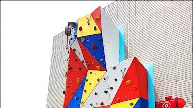 中和消防分隊重建落成 首設攀岩牆
