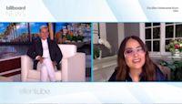 Salma Hayek Reveals Her Pet Owl Hacked Up a Hairball on Harry Styles' Head | Billboard News