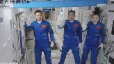 New crew docks at China's first permanent space station