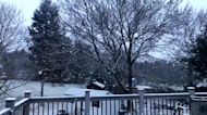 Snow Squall Passes Through Northern New Jersey