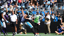 Panthers RB Chuba Hubbard scores first NFL touchdown