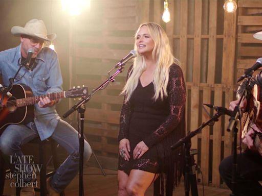 Miranda Lambert, Jack Ingram, Jon Randall Perform 'In His Arms' on 'Colbert'