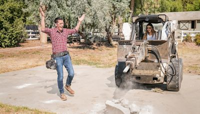 WATCH: Kris & Kendall Jenner Strap Into Some Heavy Machinery for Surprise Backyard Makeover