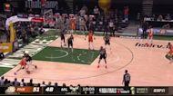 Devin Booker with a buzzer beater vs the Milwaukee Bucks