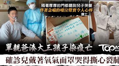 【錐心之痛】單親爸湊大三孩子染疫亡 確診兒戴著氧氣面罩哭得撕心裂肺 - 香港經濟日報 - TOPick - 健康 - 健康資訊