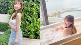 樂瞳酒店Staycation慶祝35歲生日 浸泡泡浴回眸一笑好吸睛