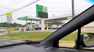 Dozens of Vehicles Line Up for Gas in Durham, North Carolina, as Fuel Shortages Expected to Continue
