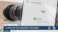 Clients say photographer took money