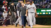 Aaron Civale leaves game with apparent injury in Cleveland's game at Chicago Cubs
